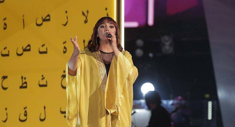 سهى المصري خلال مشاركها في برنامج المسابقات الغنائية ذا فويس
