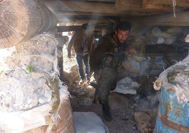 أنفاق المسلحين في مدينة دوما
