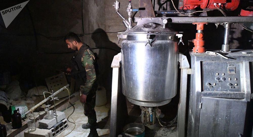 المختبر الكيميائي للمسلحين في دوما