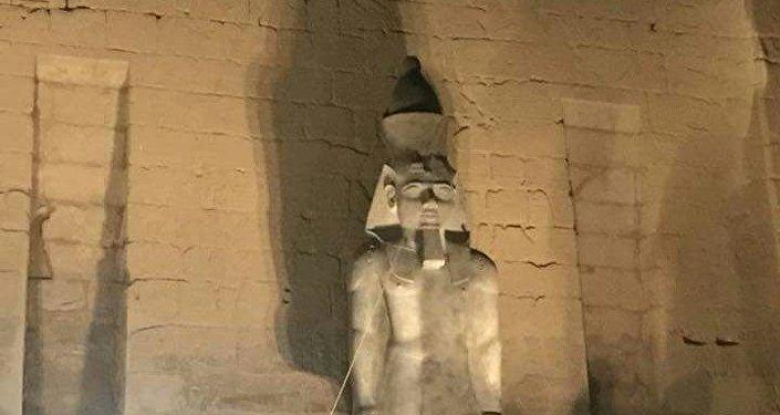 عودة  رمسيس الثاني إلى واجهة معبد الكرنك بالأقصر