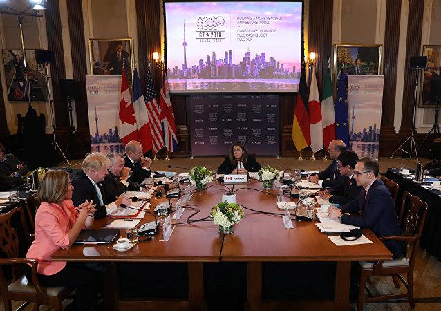 وزراء خارجية  السبع الكبار في تورنتو الكندية