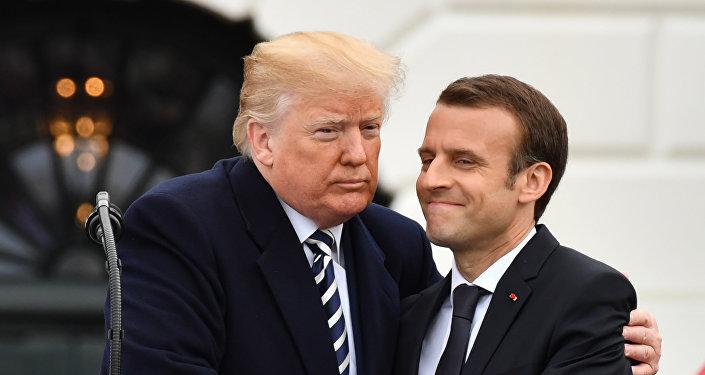 الرئيس الأمريكي دونالد ترامب والرئيس الفرنسي إيمانويل ماكرون