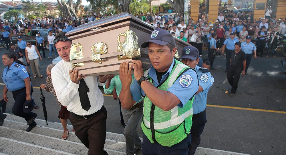 تشييع جثمان ضابط في نيكاراغوا