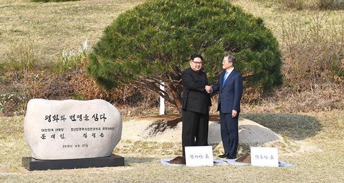 زعيما كوريا الجنوبية والشمالية