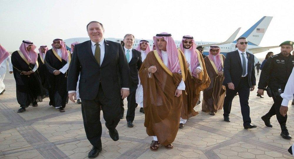 وزير الخارجية السعودي عادل الجبير يستقبل وزير الخارجية الأمريكي مايك بومبيو في الرياض