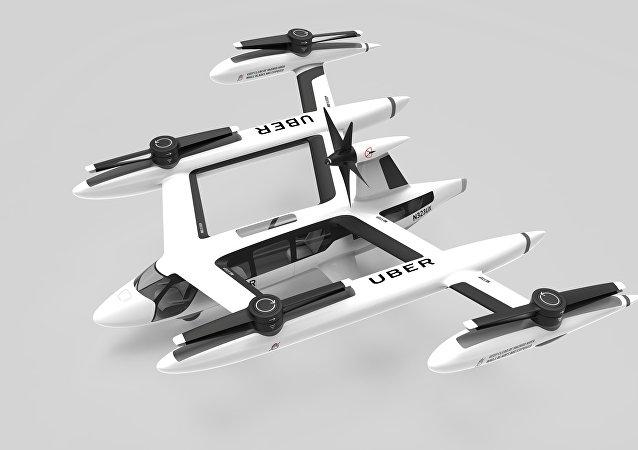نموذج لتاكسي أوبر الطائر بالتعاون مع وكالة ناسا الفضائية