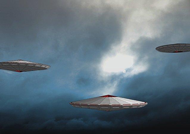 طائرتين أمركيتين يطاردان جسم فضائي غريب