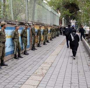 احتجاجات في طهران بعد خروج دونالد ترامب من صفقة الاتفاق النووي مع إيران، 9 مايو/ أيار 2018
