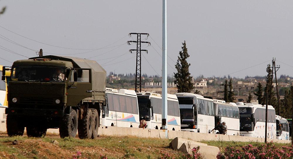 خروج المسلحين من ريفي حمص الشمالي وحماة الجنوبي