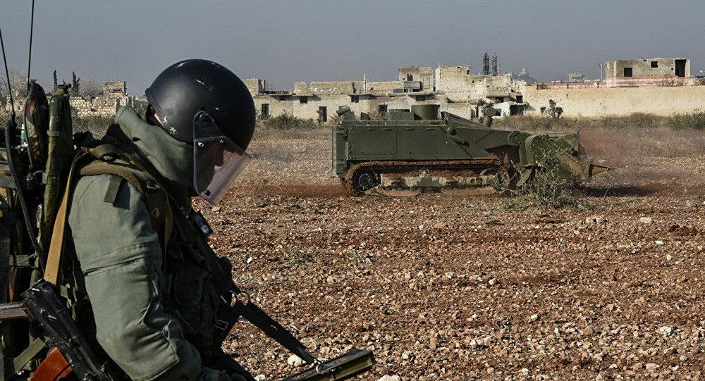 إزالة الألغام في مدينة حلب السورية