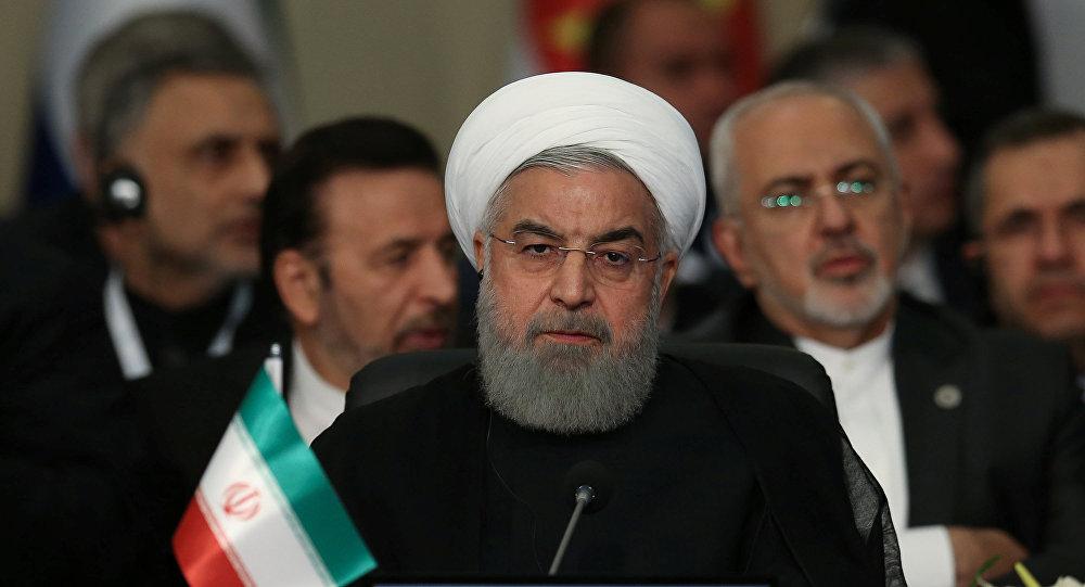 الرئيس الإيراني حسن روحاني في القمة العربية الإسلامية في تركيا، 18 مايو/أيار 2018