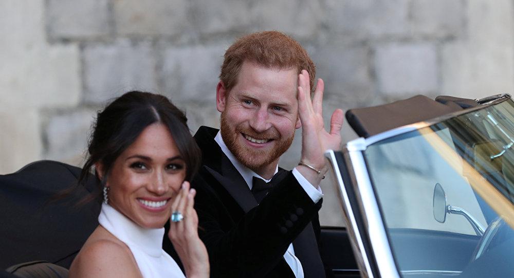 الأمير هاري وعروسه ميغان ماركل في حفل زفافهما الملكي، 19 مايو/أيار 2018