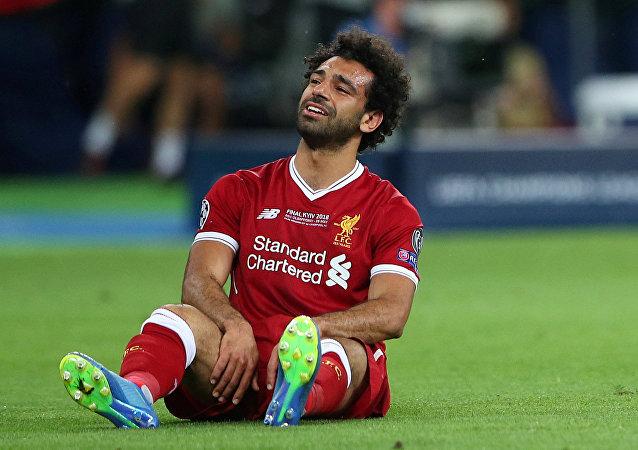 اللاعب المصري وجناح فريق ليفربول الإنجليزي محمد صلاح