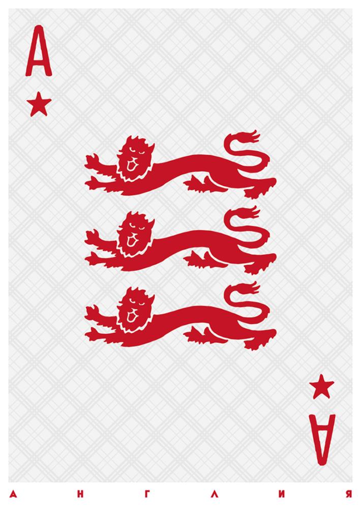 لوحة تمثل المنتخب الإنجليزي