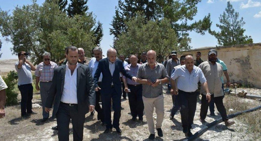 وزير الموارد المائية السوري يتفقد ريفي حمص وحماة بعد تحريرها من الإرهاب