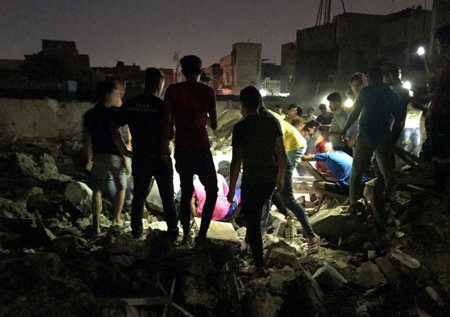 تداعيات انفجار بغداد، العراق 6 يونيو/ حزيران 2018