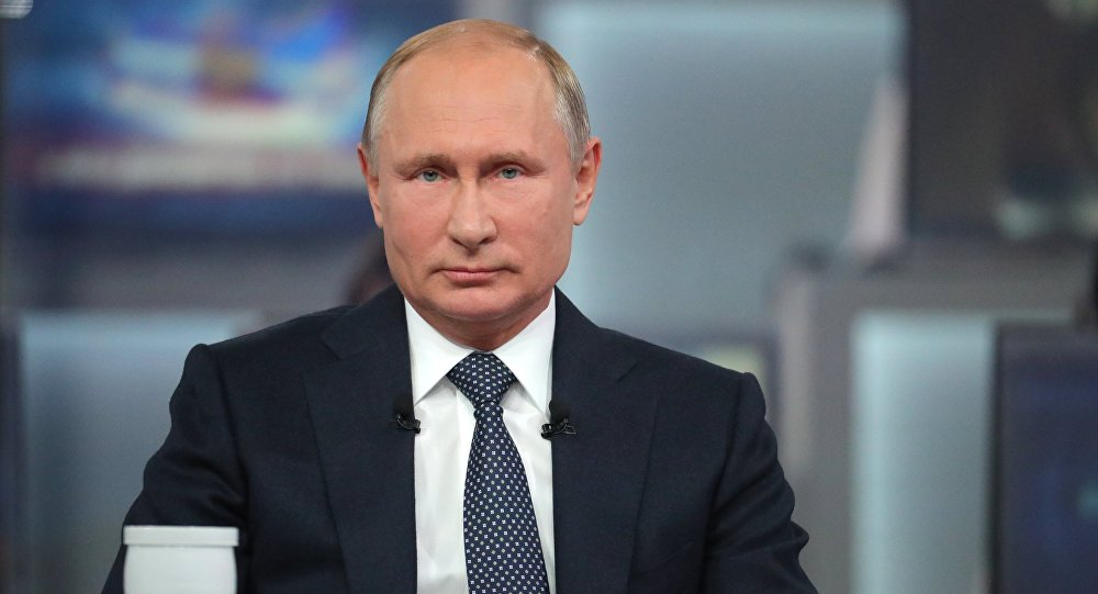 الخط المباشر مع الرئيس فلاديمير بوتين - الحوار السنوي مع الشعب الروسي، موسكو 7 يونيو/ حزيران 2018