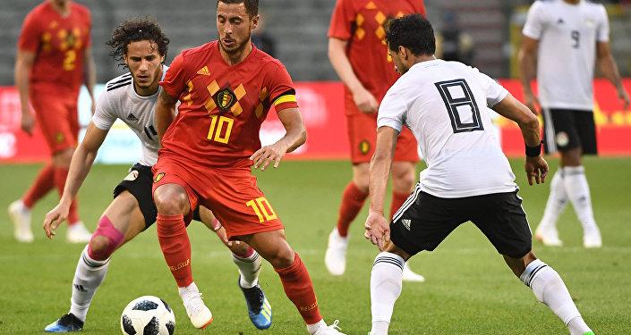 هازارد لاعب منتخب بلجيكا