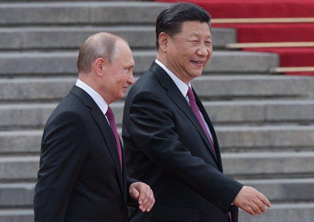 زيارة الرئيس الروسي فلاديمير بوتين إلى الصين (8 يونيو/حزيران 2018)