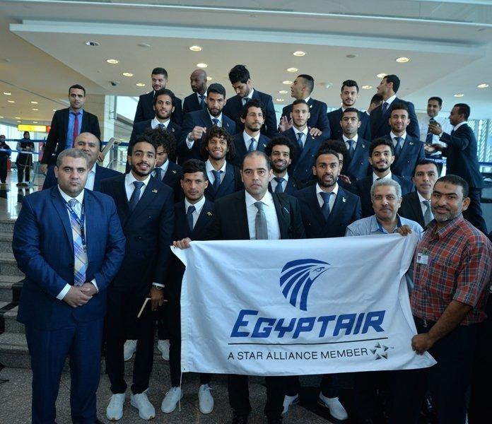 المنتخب الوطنى المصري قبل سفره إلى روسيا، 10 يونيو/ حزيران 2018