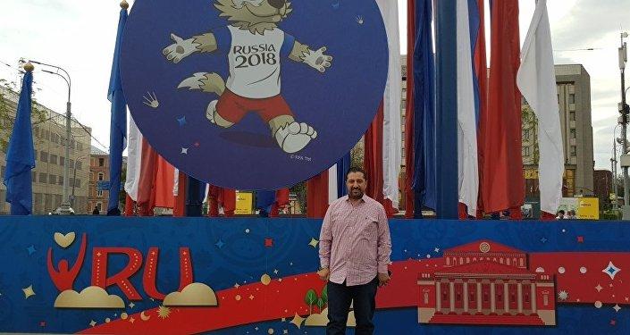رئيس الاتحاد السوري لكرة القدم فادي دباس في موسكو