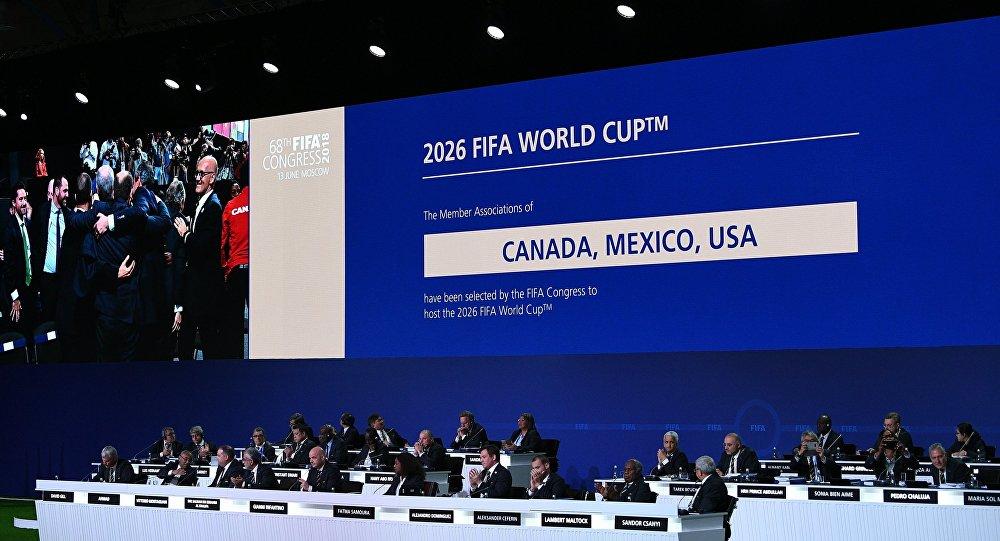 الملف الثلاثي يفوز بحق استضافة كأس العالم 2026