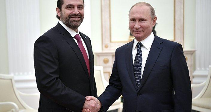 الرئيس الروسي يلتقي مع رئيس الوزراء اللبناني سعد الحريري (13 يونيو/حزيران 2018)