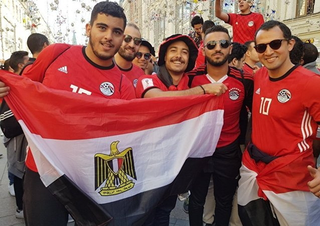 مشجعون من مصر في موسكو، كأس العالم 2018، روسيا
