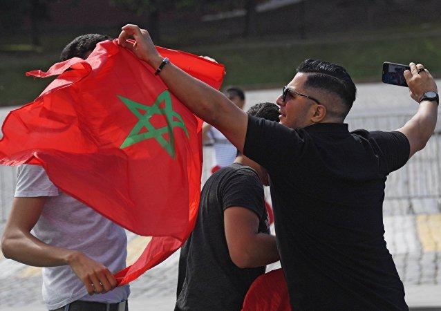 مشجعون من المغرب في موسكو، كأس العالم 2018، روسيا