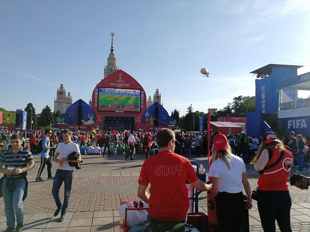 جانب من أجواء متابعة مباريات كأس العالم روسيا 2018