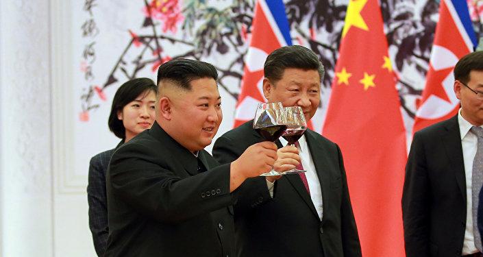 كيم جونغ أون في زيارته للصين