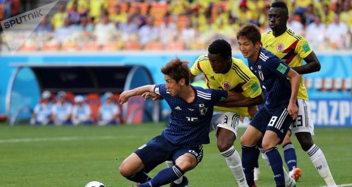المباراة التي جمعت المنتخب الياباني والكولومبي في كأس العالم 2018 في روسيا
