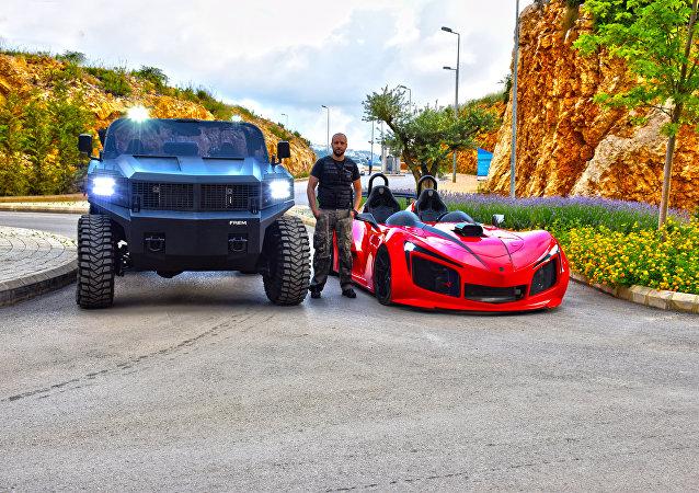 أول سيارة لبنانية رباعية الدفع FREM F1