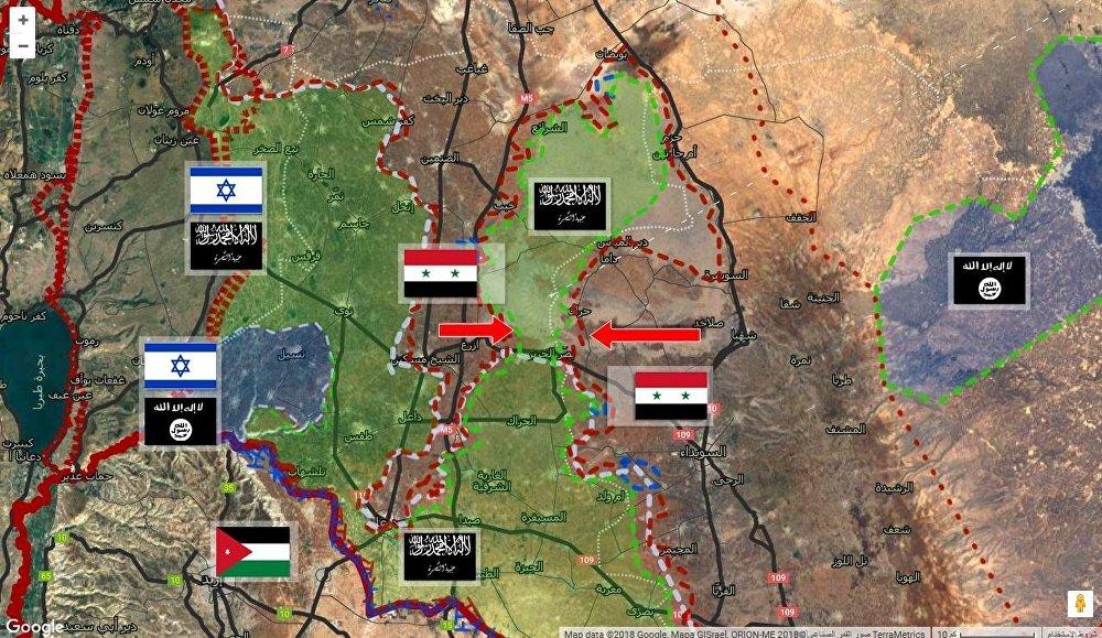 منطقة اللجاة في درعا جنوبي سوريا