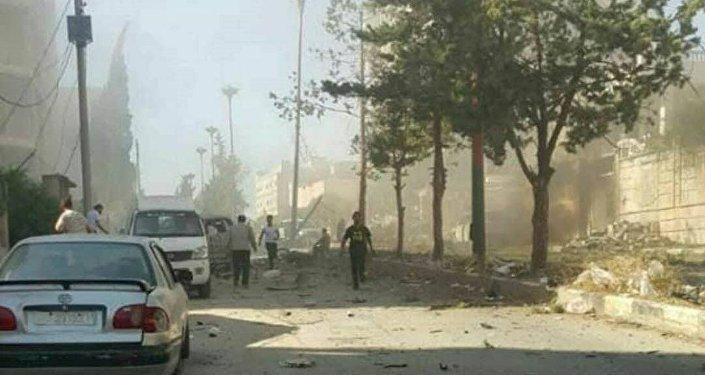 انفجارات تستهدف إرهابيين في مدينة إدلب