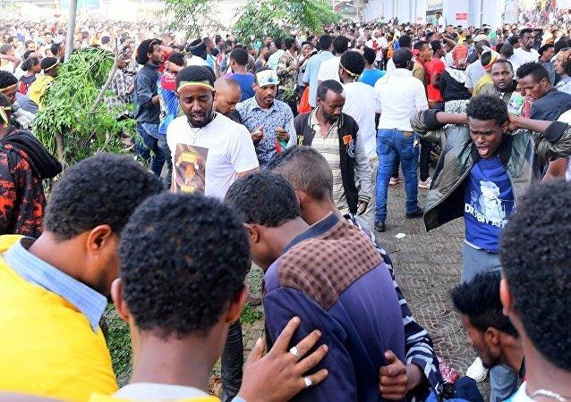 تفجير استهدف مؤيدي رئيس الوزراء الإثيوبي أبي أحمد