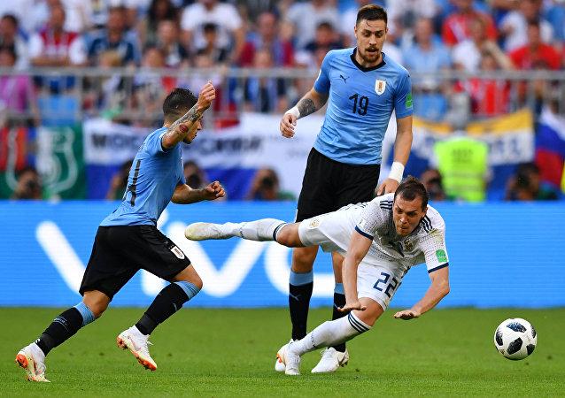 مباراة أوروغواي وروسيا