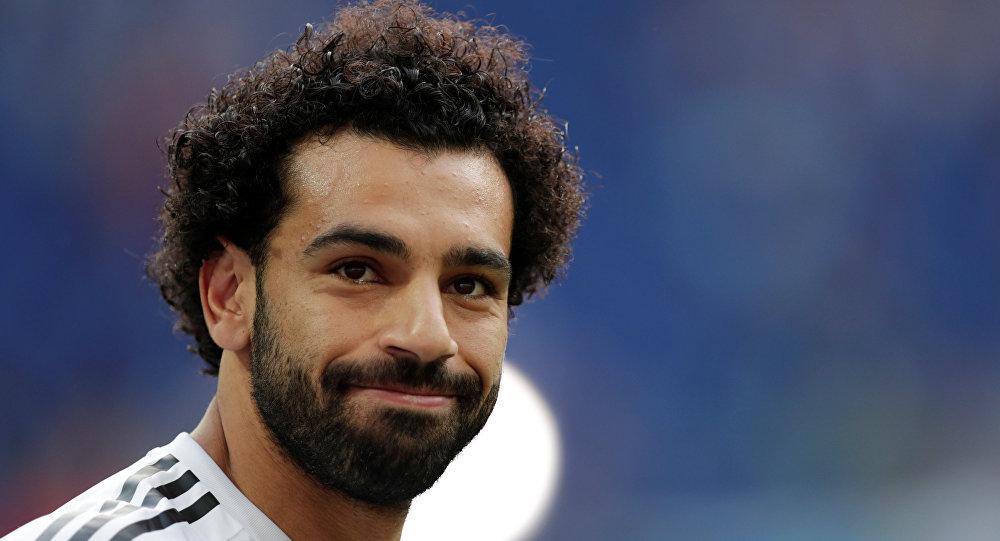 محمد صلاح خلال مباراة مصر والسعودية في كأس العالم، 25 يونيو/حزيران 2018