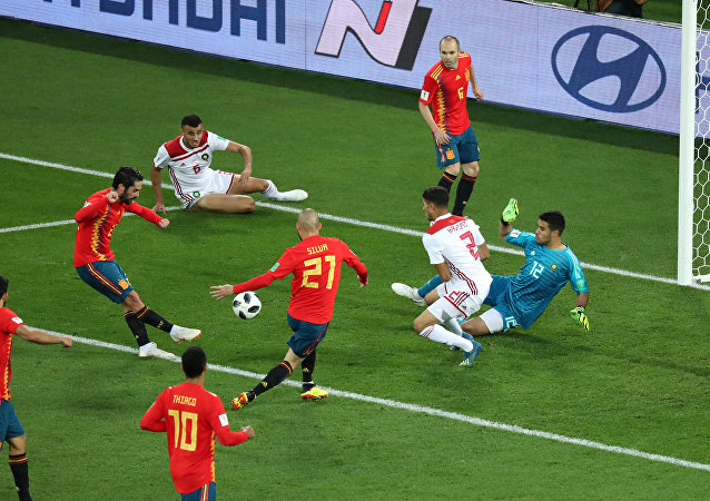 مباراة إسبانيا والمغرب في كأس العالم 2018