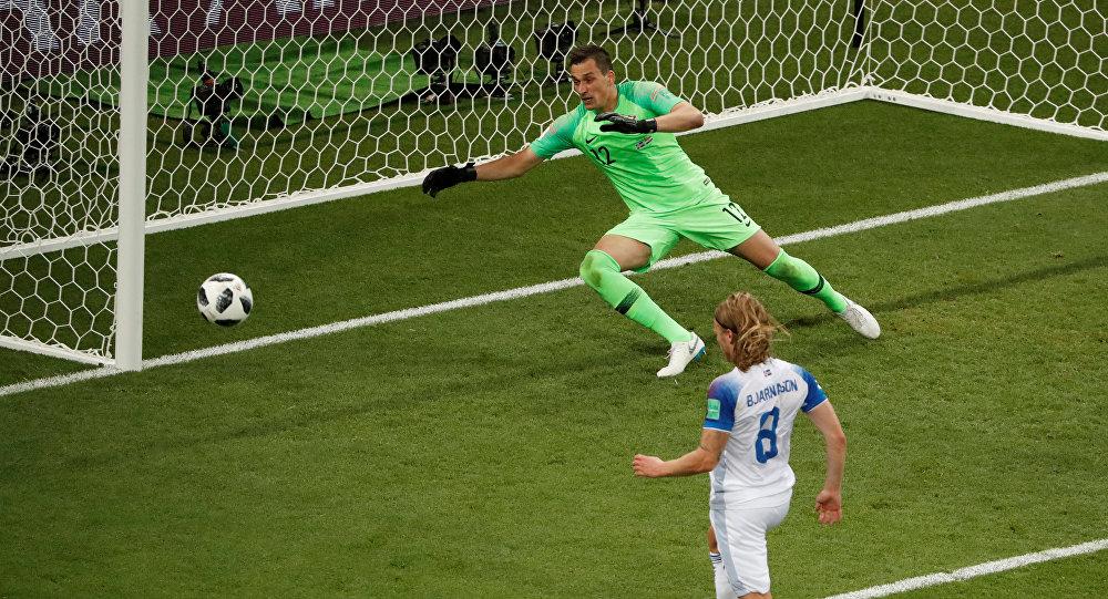 هدف أيسلندا في مرمى كرواتيا من ركلة جزاء