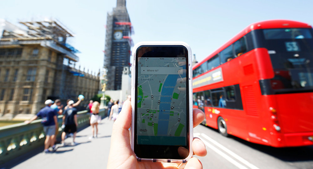 تطبيق أوبر في بريطانيا