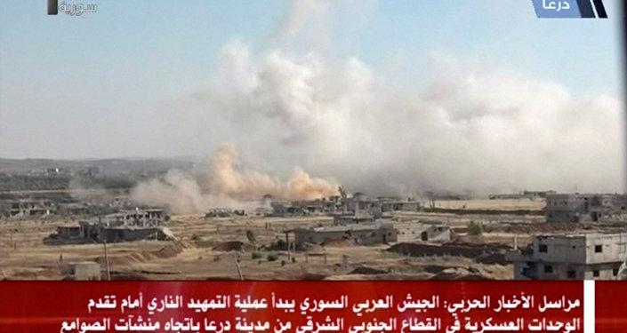 عمليات الجيش السوري في ريف درعا بالجنوب السوري