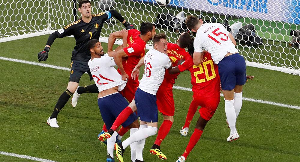 مباراة بجيكا وإنجلترا في كأس العالم 2018