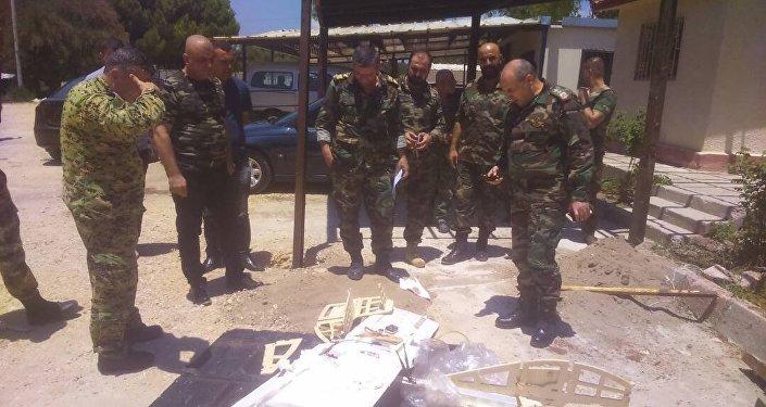 إحدى طائرات الإرهابيين المدمرة في سوريا