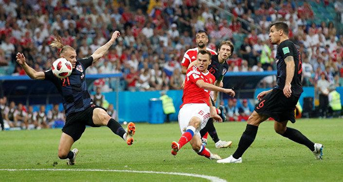 الهدف الأول للمنتخب الروسي في مباراة كرواتيا