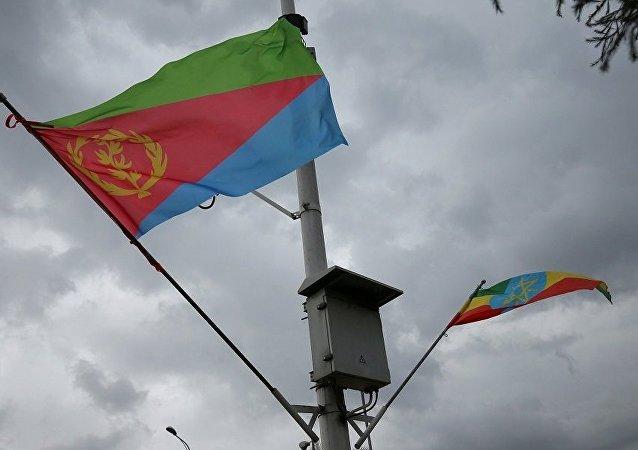 أعلام إثيوبيا وإريتريا