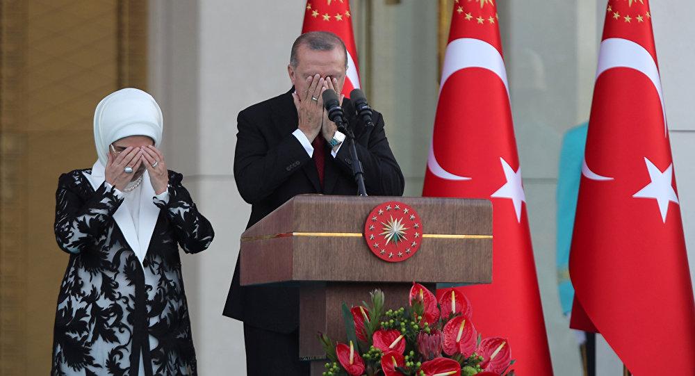 الرئيس أردوغان خلال حفل تنصيبه رئيسا لتركيا