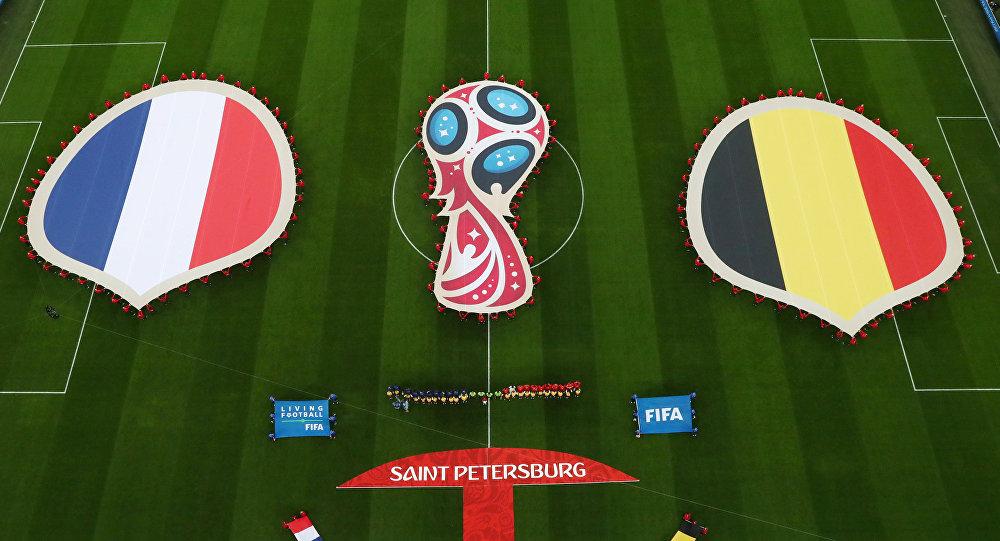 مباراة فرنسا و بلجيكا في الدور نصف النهائي لكأس العالم 2018