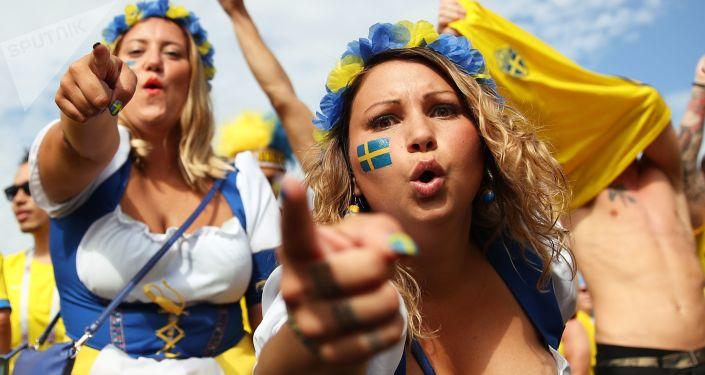 مشجعات المنتخب السويدي في كأس العالم 2018
