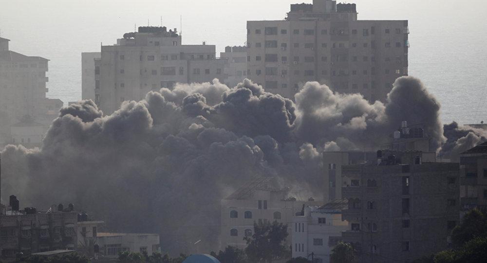 قصف إسرائيلي على قطاع غزة، 14 يوليو/تموز 2018